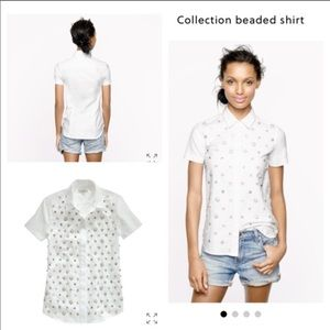 J. Crew Collection • embellished button down